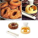 HKFV Form Fondant Kuchen Kunststoff Bäckerei Donut DIY Gebratene Donut Maker Cutter Donut-Form