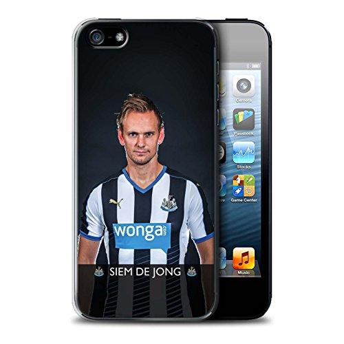 Officiel Newcastle United FC Coque / Etui pour Apple iPhone SE / Pack 25pcs Design / NUFC Joueur Football 15/16 Collection De Jong