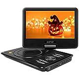 APEMAN 9,5'' Tragbarer DVD-Player mit 4 Stunden Akku Drehbarem Display Unterstützt SD-Karte USB AV OUT/IN Spiele-Joystick