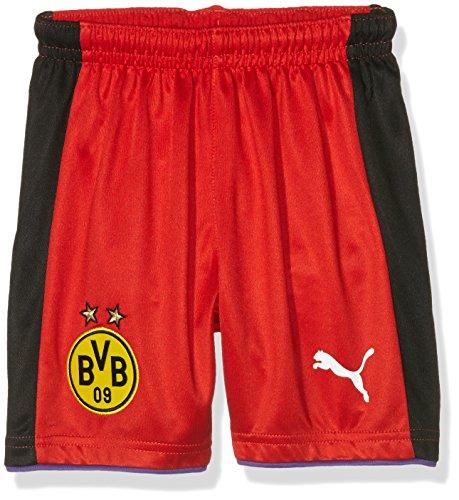 PUMA Kinder Torwarthose BVB GK Shorts, red-Black, 152
