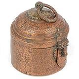 IndianShelf Vintage handgefertigtes Vintage Kupfer in Form Eines Haares Aufbewahrungsbox Statue Dekoration Designer Daration Vintage Teile Online Neu