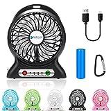 Tragbar Fan, dizaul Mini USB aufladbare Fan mit...