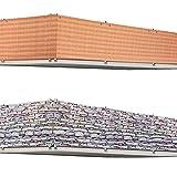 Wind - und Sichtschutz für den Balkon/Gartenzaun - 5m Länge - Steinoptik