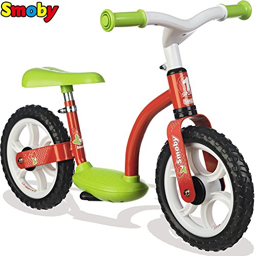 Metall Laufrad mit Flüsterräder, Trittbrett und Stönder, ab 2 Jahren: Lernlaufrad Kinderbike Lauflernrad Gleichgewicht Flüsterrad
