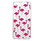 Huawei P10 Plus hülle,Huawei P10 Plus Case, Cozy Hut Kratzfeste Plating TPU Silicone Case Schutzhülle Ultra Dünn Tasche für mit Huawei P10 Plus Hülle Case Transparent - Flamingos