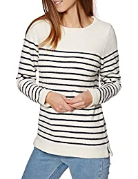 Joules Women's Seaham Textured Striped Jumper - Creme V_SEAHAM
