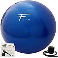 Fitem Gym Ball - 55, 65 et 75cm - Ballon de Gym – Ballon Fitness – Ballon pour Pilates, Exercises d'Equilibre, Pilates, Yoga