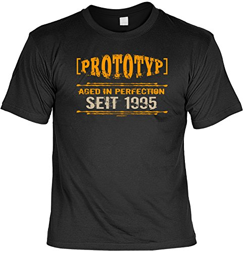 Zum Geburtstag - Prototyp Aged in Perfection seit 1995 - T-Shirt - Ein perfektes Geschenk! Schwarz