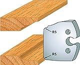 231 : Jeu de 2 fers plate bande ht 50 mm pour porte outils entr'axe plot 24 mm