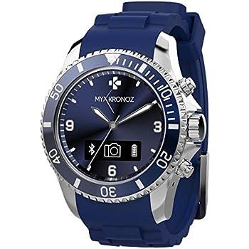 MyKronoz ZeClock - Smartwatch (USB, Bluetooth, micrófono), Azul