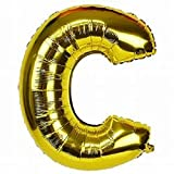 #7: Golden Foil balloon Alphabet C {18 Inch}for Birthday Decoration,Baby Shower,Wedding,Festival,Party