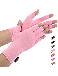 Duerer Arthritis Handschuhe - Compression Handschuhe f¨¹r Rheumatoide & Osteoarthritis - Handschuhe bieten arthritische Gelenkschmerzen Linderung der Symptome - M?nner und Frauen(Rosa, S)