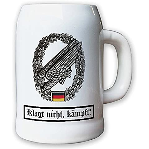 Vaso/boccale da birra 0, 5L - caso Barettabezeichen l'ombrellone cacciatore Falli FschJg cebbra armardi gurimotex soldati #11813