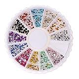 Baoblaze Flatback Perlen Strasssteine Verzieren Acryl Steine Glitzersteine für Handytasche, Taschen, Gürtel, Nail Art Dekorationen