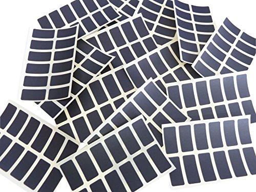 Minilabel - Juego de 200 etiquetas adhesivas rectangulares de 25x 12mm, color negro
