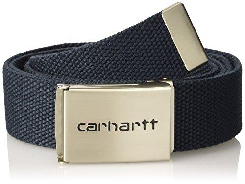 carhartt-clip-belt-chrome-cinture-unisex-colore-navy-taglia-taglia-unica