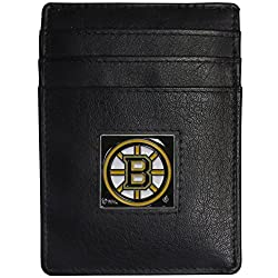 Boston Bruins Leather Money Clip/Cardholder Packaged in Gift Box