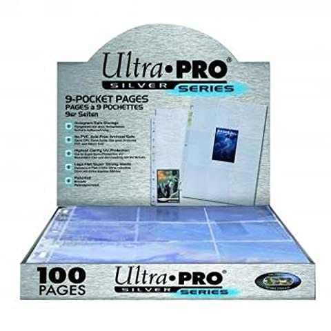 Ultra Pro Silver Series 9 Pocket Trading Card 100 Pages (Pro 9 Pocket)