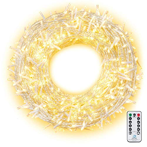 LED Lichterkette 100M 800 LEDs Ollny Lichterkette IP44 mit Fernbedienung & Timer 8 Modi für Weihnachten Partydekoration Geburstag Hochzeit Wohnzimmer Kinderzimmer-Warmweiß