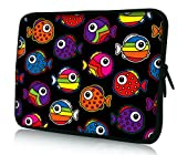 Luxburg® Design Laptoptasche Notebooktasche Tablet PC eBook Reader Tasche bis 8,1 Zoll, Motiv: bunte Fische