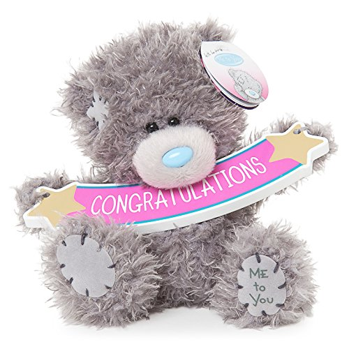 Me To You SG01W4075 5-Inch Tall Tatty Teddy with Congratulations Banner Plush Toy