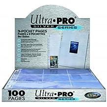 Ultra Pro 150122 Silver Series - Juego de fundas para cartas para jugar y coleccionar (caja con 100