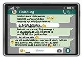 Einladungskarten zum Geburtstag als Tablet Handy Chat Einladung Geburtstag 20 Stück
