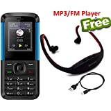 I KALL K5310 Dual Sim Basic Feature Phone Mobile With Bluetooth, 1.8 Inch Display , GPRS, Flash Light, Memory Expandable Upto 8GB , 1000 MAH Battery Capacity And 1 Year Warranty With MP3/FM Player Neckband- Blue Black