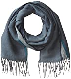 Haggar Men's Woven Striped Scarf, Midnight Navy, One Size
