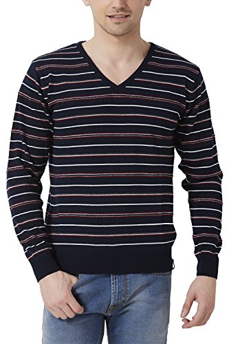 Peter England Men's Regular Fit Sweater_ Psw51500616_m_ Navy