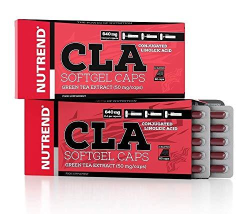 Nutrend CLA SOFTGEL 60 CAPS leicht resorbierbaren Kapseln, Grüntee-Extrakt effektive Nutzung durch den Organismus Fettstoffwechsel-Unterstützung -