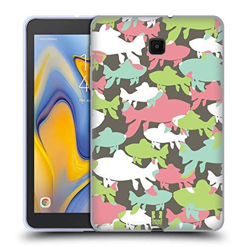 Head Case Designs Fisch Eingefärbte Tieren Soft Gel Huelle kompatibel mit Galaxy Tab A 8.0 (2018) -