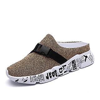 Mules Maille Été Mocassins Respirant Pantoufles Casualshoes Marche Glissement Sur Des Chaussures,Khaki,41