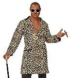Widmann Casanova Hustler Zuhälter Rapper Mantel Leopardenmuster (Leopard, M / L)