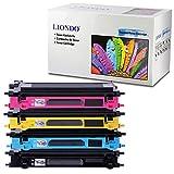 Liondo 4 Set Toner kompatibel zu Brother TN-130 TN-135 DCP-9040CN 9042 9045CN/CDN HL-4040CN 4050CDN 4070CDW MFC-9440CN 9450CDN 9840CDW