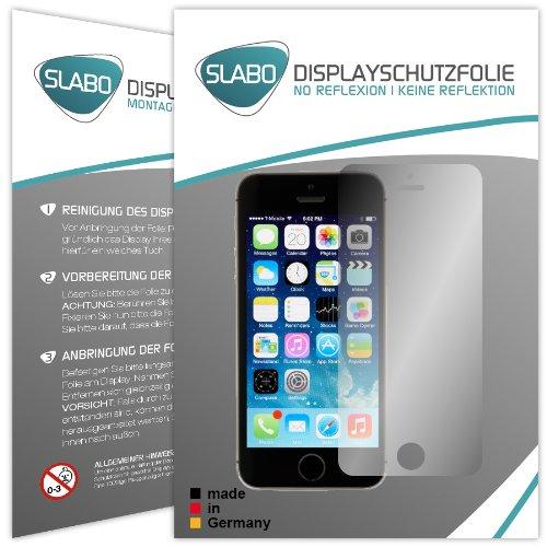 """4 x Slabo Displayschutzfolie Apple iPhone 5 5S 5C SE Schutzfolie Folie """"No Reflexion-Keine Reflektion"""" MATT - Entspiegelnd MADE IN GERMANY"""
