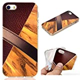 All Do Coque iPhone 5/5S/SE, Modèle de Cuir Marbre Luxe Étui Silicone Souple TPU...
