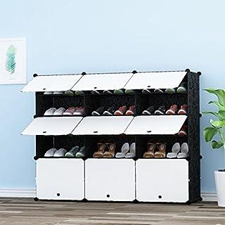 PREMAG Portable Schuhspeicher-Organisator-Turm, modulares Kabinett-Fach für Platzeinsparung, Schuhregal-Regale für Schuhe, Aufladungen, Pantoffel 3 * 5