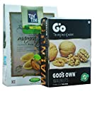 #10: Combo Pack Of Mamra Almonds 7 star and Go Organic Extra Light Halves Each 250g
