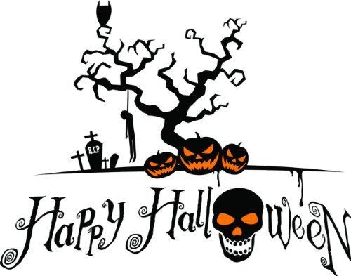 Design With Vinyl Decals Happy Halloween Wohnzimmer Bild Kunst-Peel & Stick Vinyl Wand Aufkleber Aufkleber Größe: 40,6x 61cm-22Farben erhältlich (Happy Halloween-bilder Zitate Und)