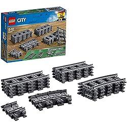 LEGO City - Vías de Tren, Set de Juguete con Piezas para Contruir Vías Ferroviarias (60205)