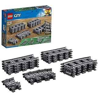 LEGO City – Vías de Tren, Set de Juguete con Piezas para Contruir Vías Ferroviarias (60205)