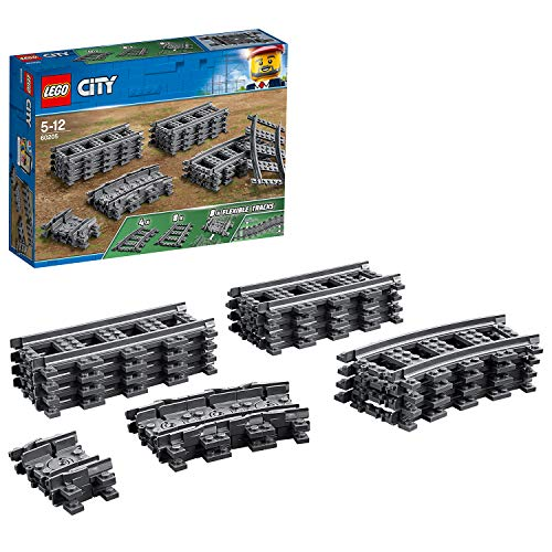 Lego city binari, multicolore, taglia unica, 60205