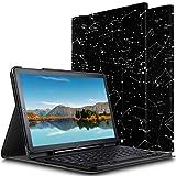 ELTD Tastatur Hülle für Samsung Galaxy Tab S4 10.5 [Deutsches QWERTZ-Layout],Standfunktion Hülle mit Abnehmbar Kabellose Tastatur für Samsung Galaxy Tab S4 T830/T835 10.5 Zoll [Ink Constellation]