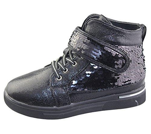 Komfort Mädchen Schuhe Babys causale Modus Rennen Markt von Trainer Stiefel Größe Black Style 2