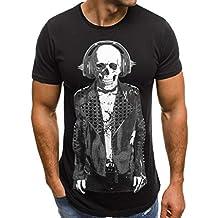 4724c0c17a206 Amlaiworld Camisetas de Mujer Hombre Verano Unisex Camisa Casual para  Hombre Blusa de Manga Corta Camiseta