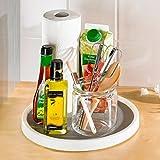 Küchen-Karussell, drehbare Ablagefläche, Drehteller Küchenhilfe, Edelstahl, ø 30 cm