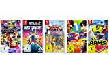 Mario Kart 8 Deluxe + Just Dance 2018 + Dragon Quest Builders + 1-2-Switch + ARMS [Nintendo Switch]