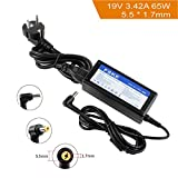FSKE® 65W 19V 3.42A Laptop Netzteil Ladegerät für Acer Aspire E15 N17908 V85 E5-575 E5-573 ES1 ES1-571 AC Adapter, Fit for 0335A1965 PA-1900-24 PA-1900-04 Notebook EUR Power Supply, 5.5 * 1.7mm