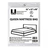 uboxes Moving Supplies Queen Size 269,2x 152,4x 35,6cm 2Mil Heavy Duty Polyethylen Matratze, (queencover01)
